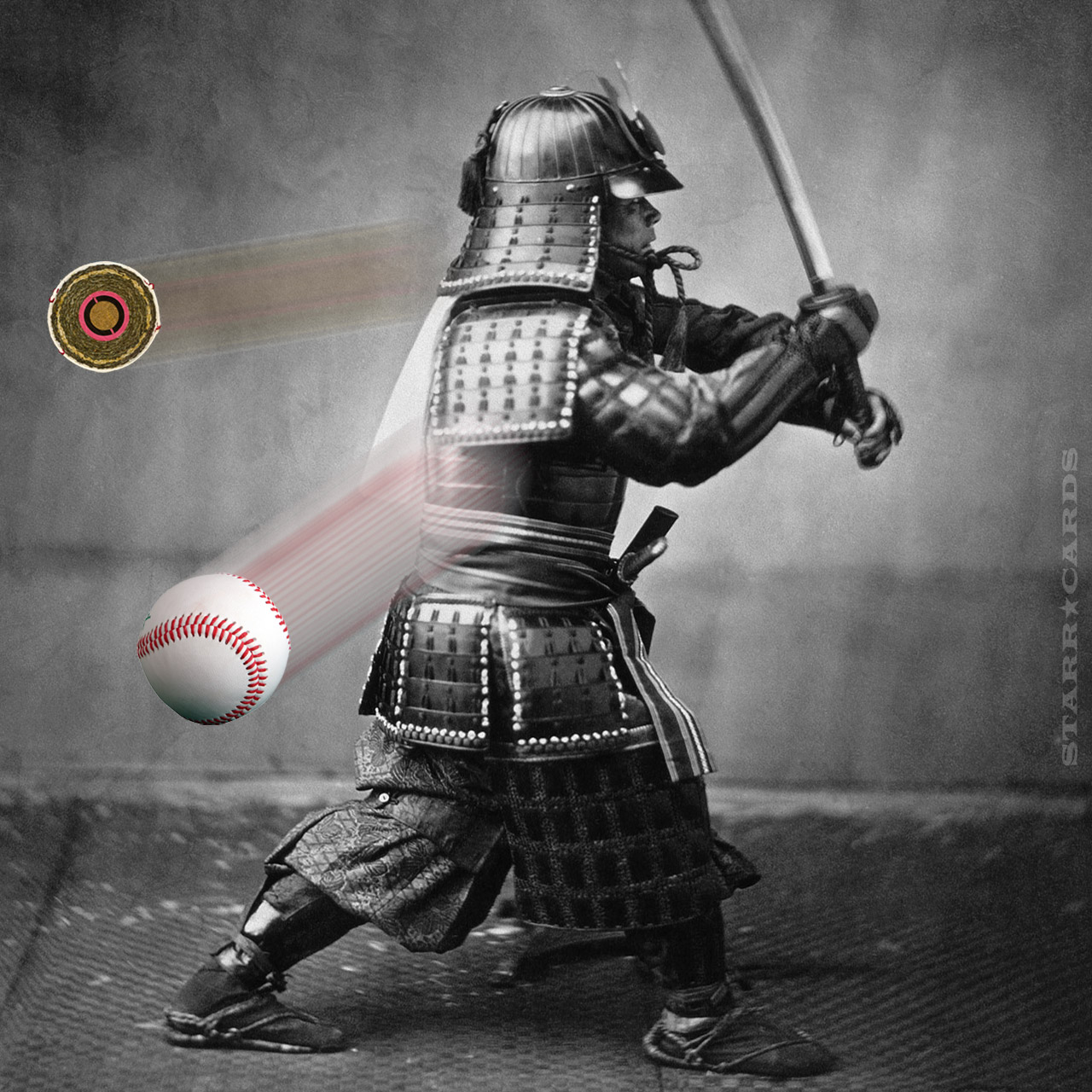 Samurai Isao Machii slices 100 mph baseball in half with his sword