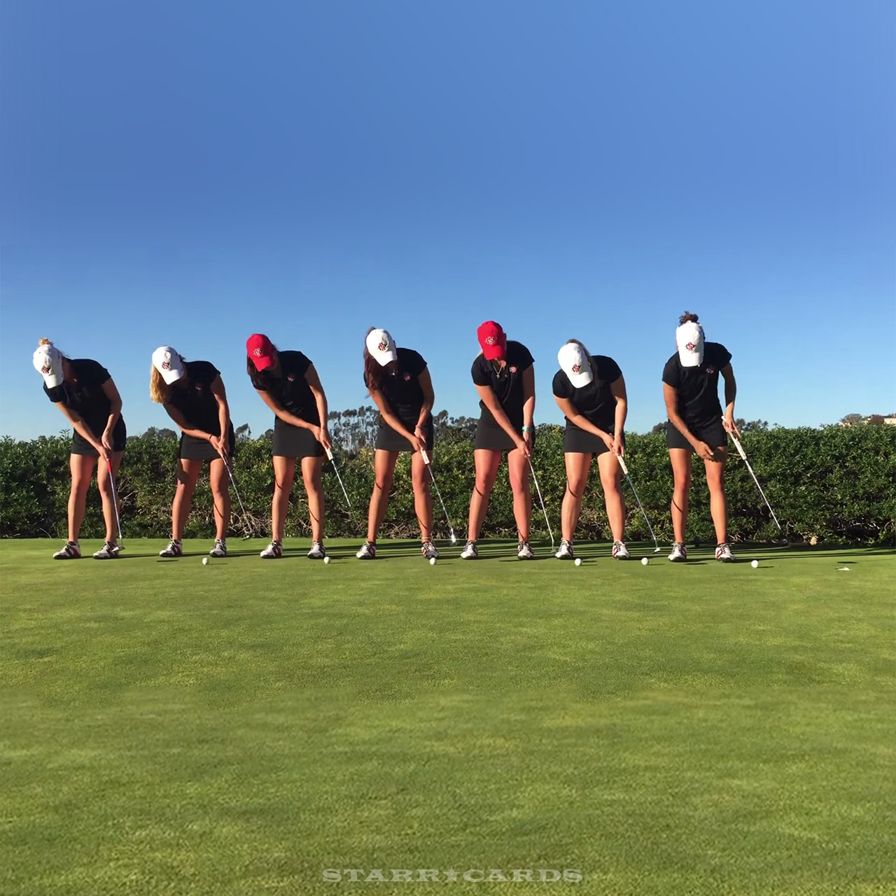 San Diego State women's golf team trick shot