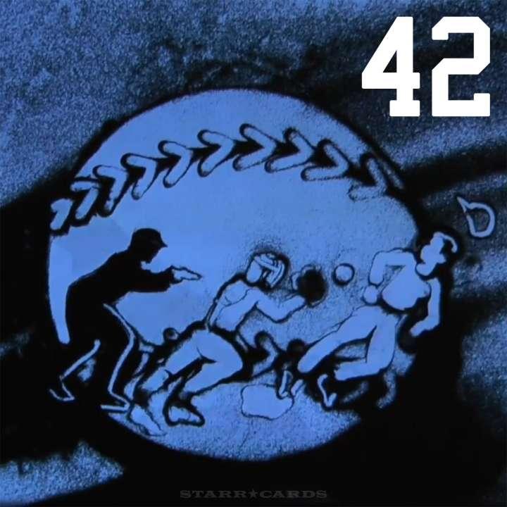 Sand artist Joe Castillo pays tribute to No. 42 Jackie Robinson