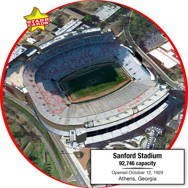 Sanford Stadium, Athens, Georgia: Home to the Georgia Bulldogs