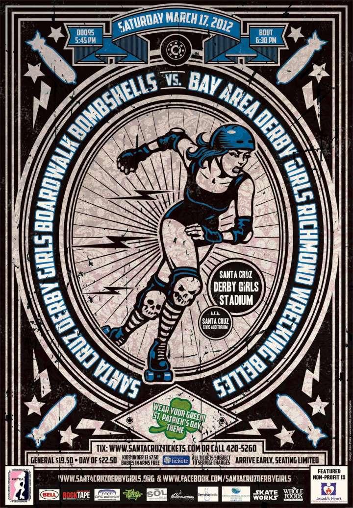 Santa Cruz Derby Girls Boardwalk Bombshells poster