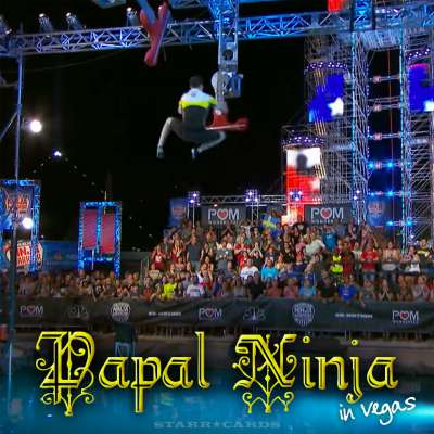 """Sean Bryan the """"Papal Ninja"""" soars on 'American Ninja Warrior"""" Las Vegas National Finals: Stage 2"""
