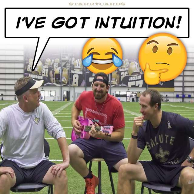 """Sean Payton outplays Drew Brees in Dude Perfect's version of """"Name That Tune"""""""
