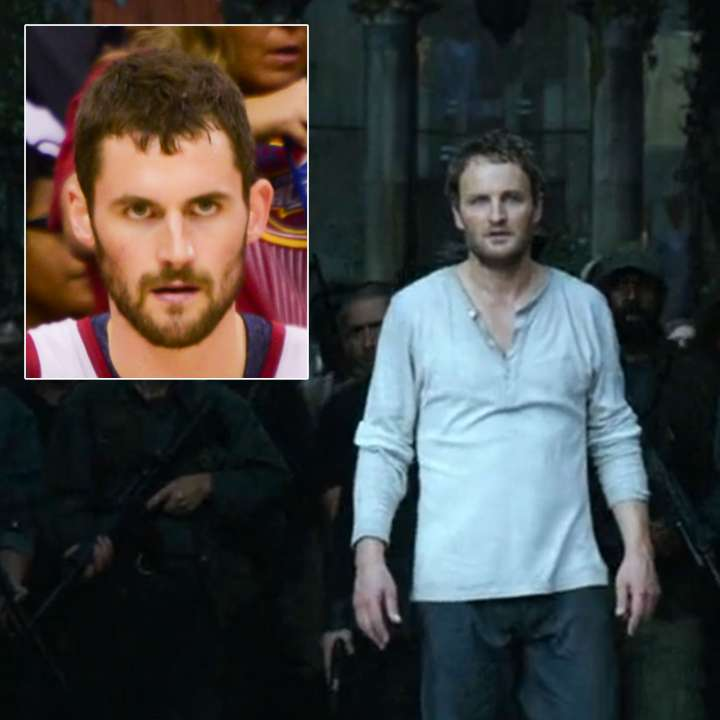 Separated at birth: Kevin Love and Jason Clarke