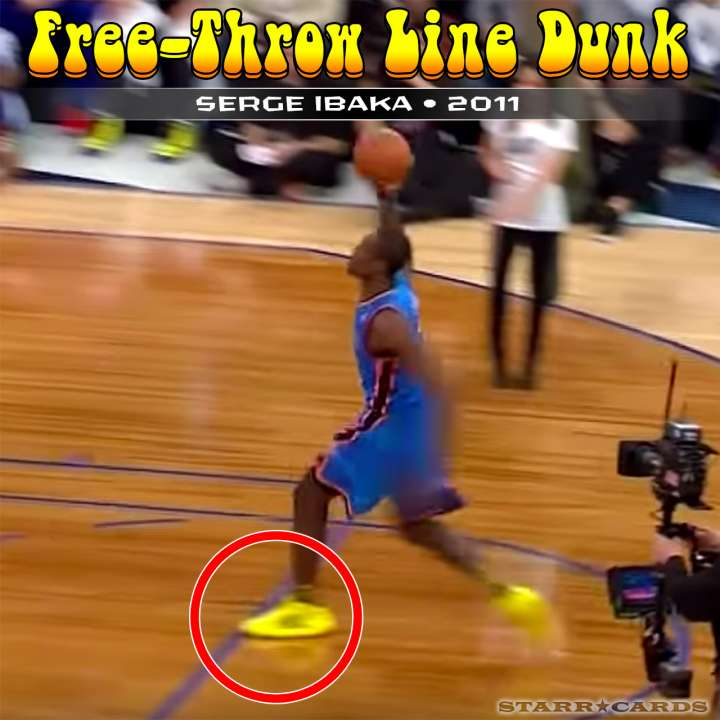 Serge Ibaka : 2011 free-throw line dunk