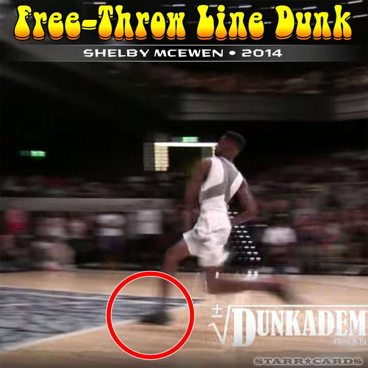Shelby McEwen : 2014 free-throw line dunk