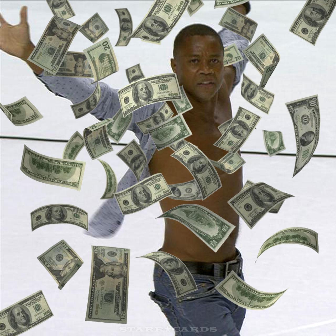 Show me the money: Cuba Gooding Jr scores at Blackhawks game