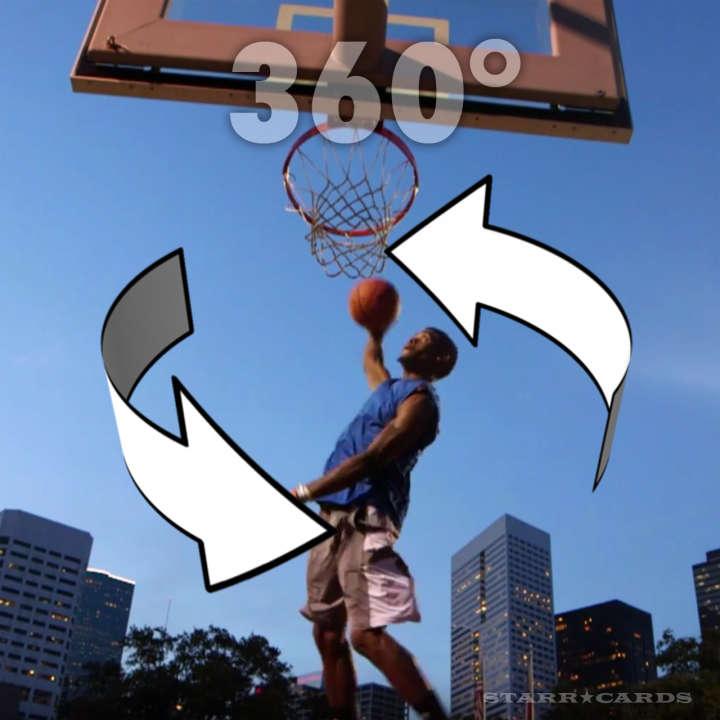 Sir Issac White throws down a 360 dunk