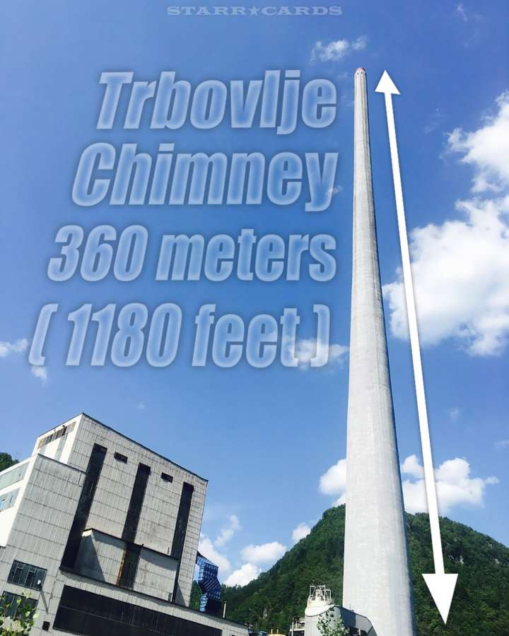Slovenia's Trbovlje Chimney — 360 meters (1180 feet) tall