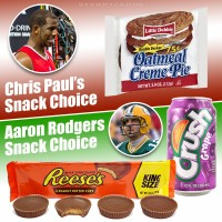 Snack choices of Chris Paul and Aaron Rodgers