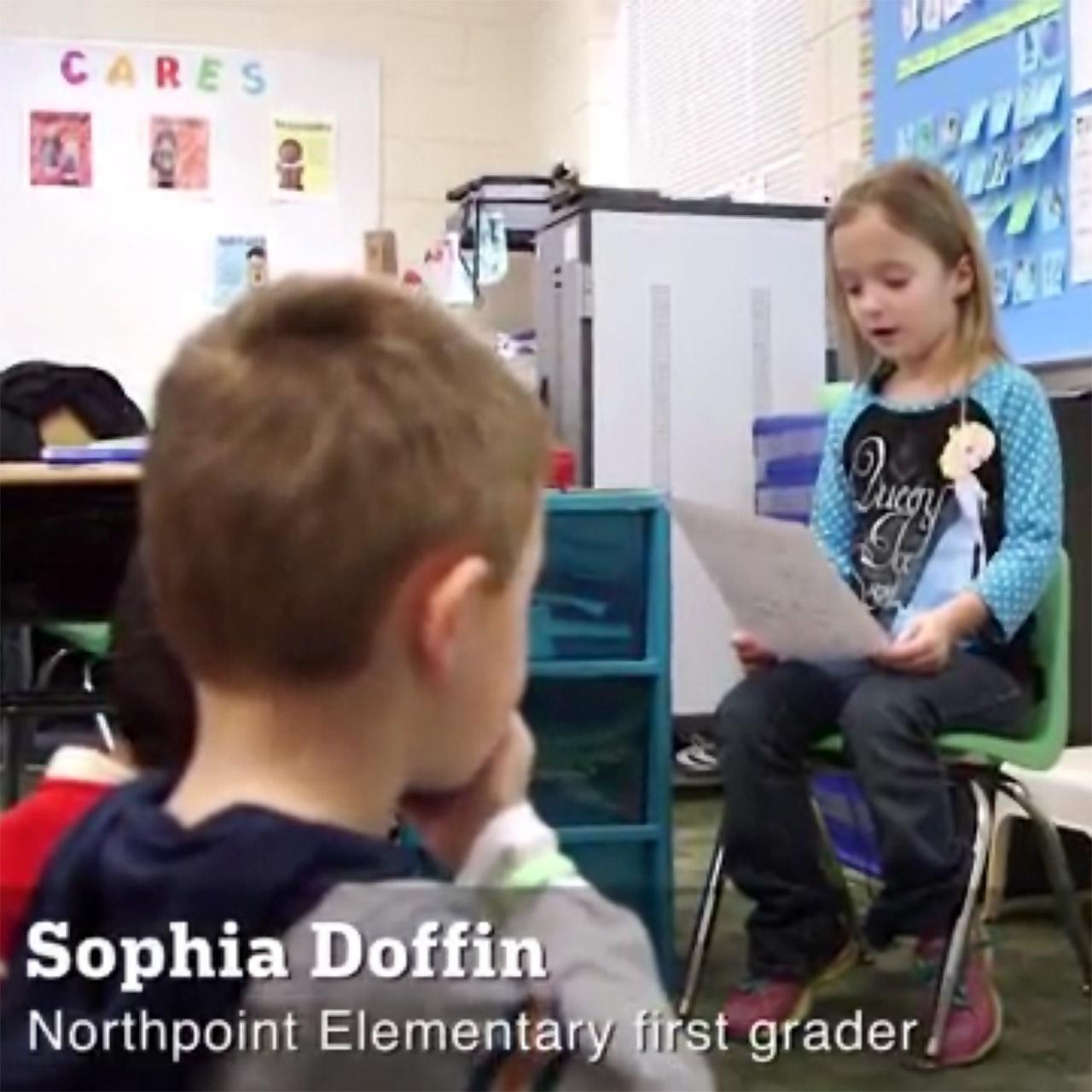 Sophia Doffin reads letter to Minnesota Vikings kicker Blair Walsh