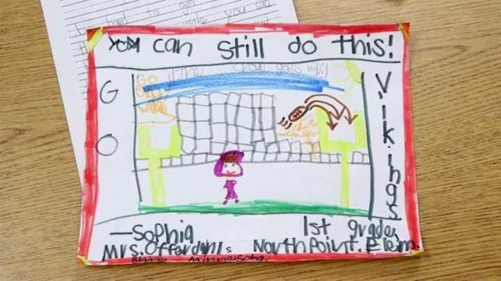Sophia Doffin's letter to Minnesota Vikings kicker Blair Walsh