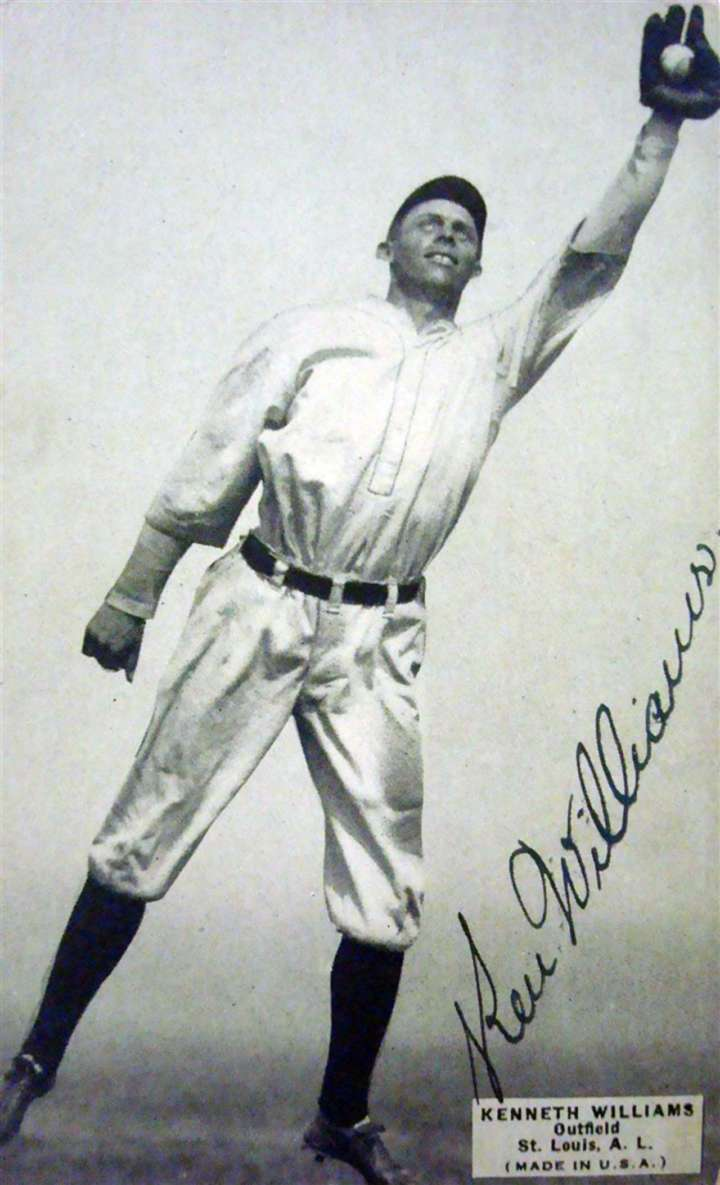 St. Louis Browns outfielder Ken Williams baseball card
