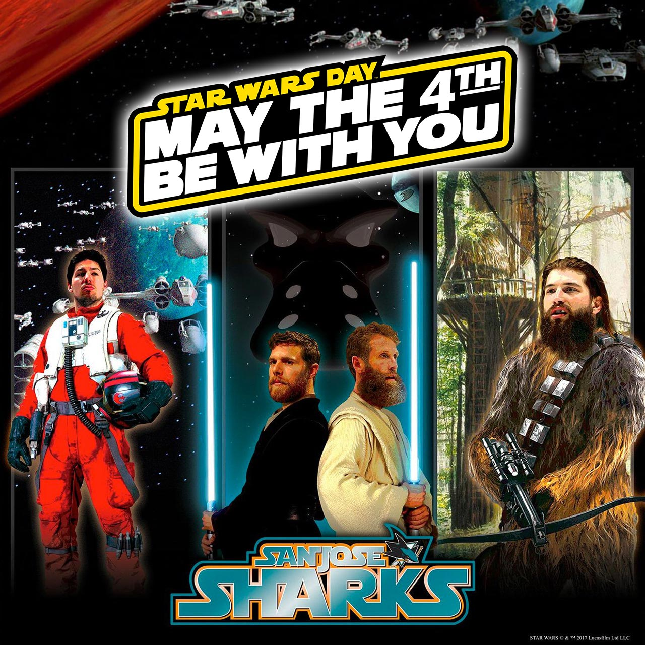 May The 4th Be With You Vancouver: Star Wars Day: Sports Teams From SJ Sharks To The Steelers