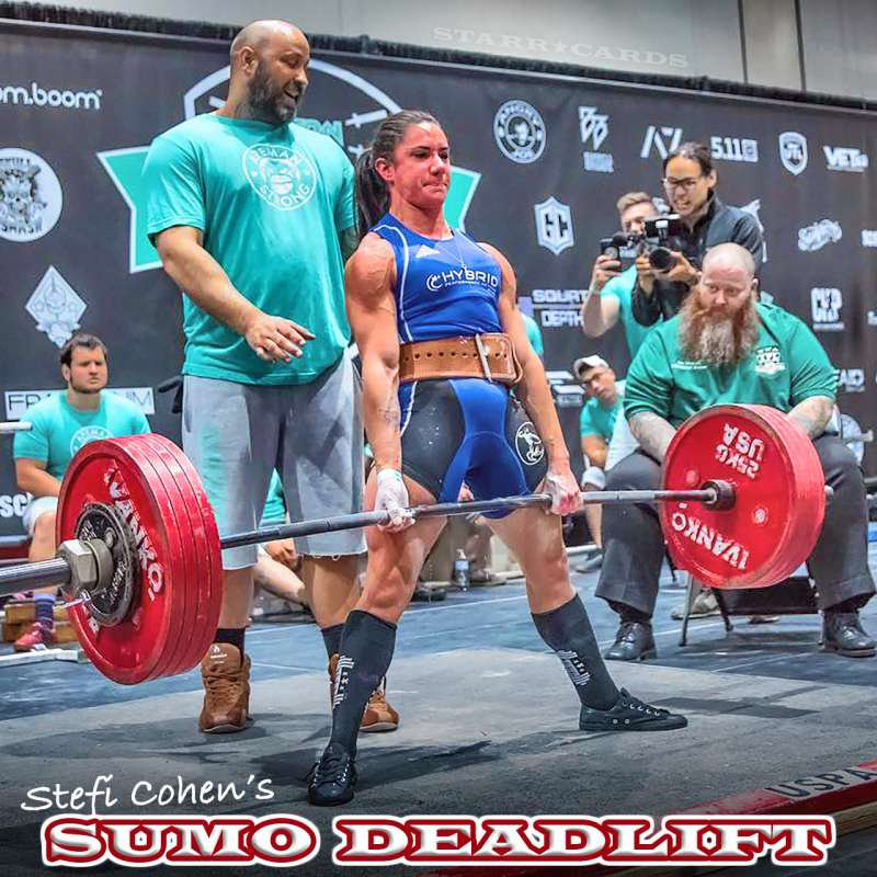 Stefi Cohen demonstrates world-champion sumo deadlift form