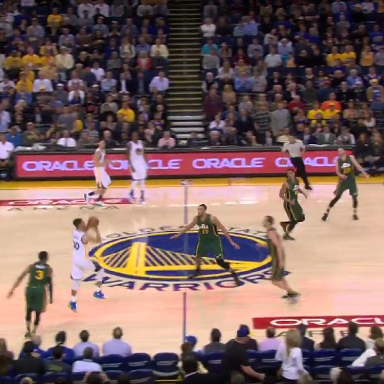 Steph Curry hits buzzer beater versus Utah Jazz
