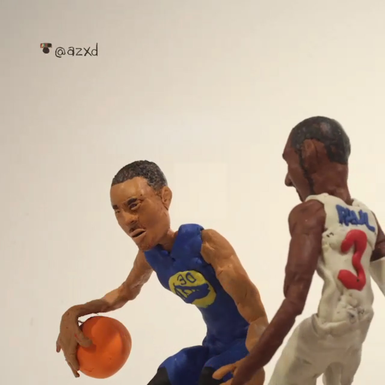 Stephen Curry And Chris Paul claymation