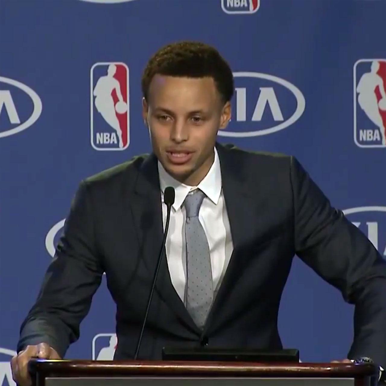 Stephen Curry gives NBA MVP speech