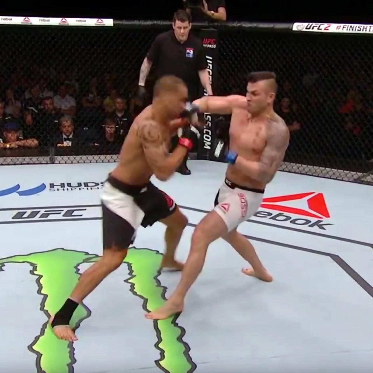 Steve-Bosse KOs James Te-Huna at UFC Fight Night 85
