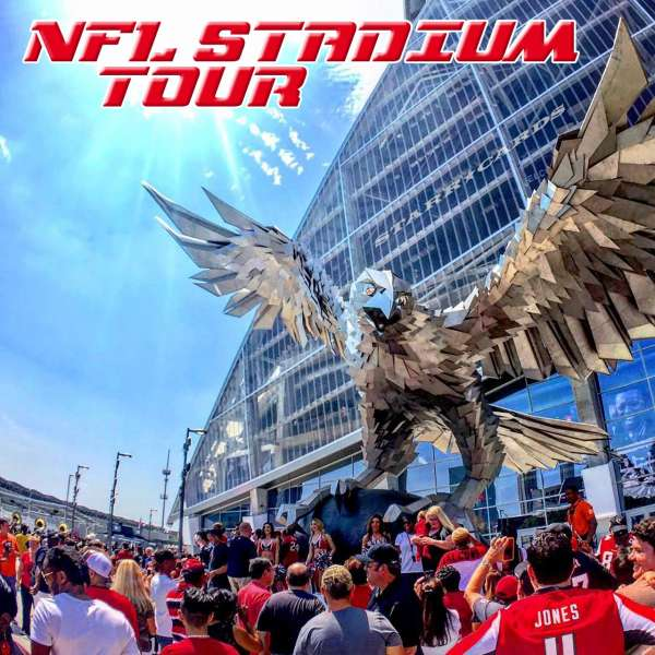 Surveying NFL stadiums including the Atlanta Falcons' Mercedes-Benz Stadium