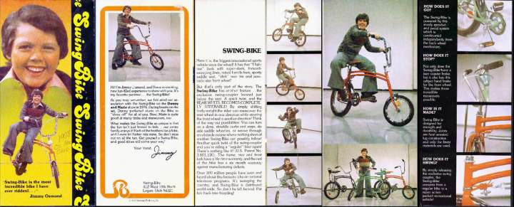 Swing Bike brochure featuring Jimmy Osmond