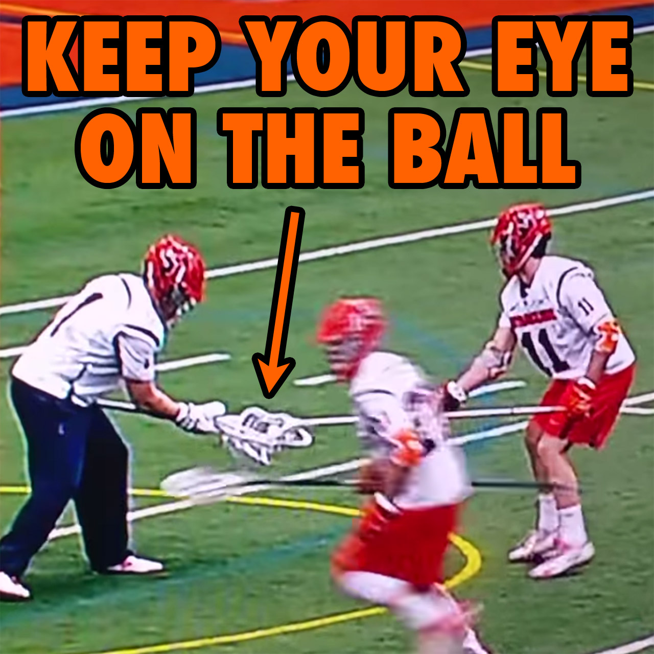 Syracuse lacrosse team pulls the hidden-ball trick on Virginia.