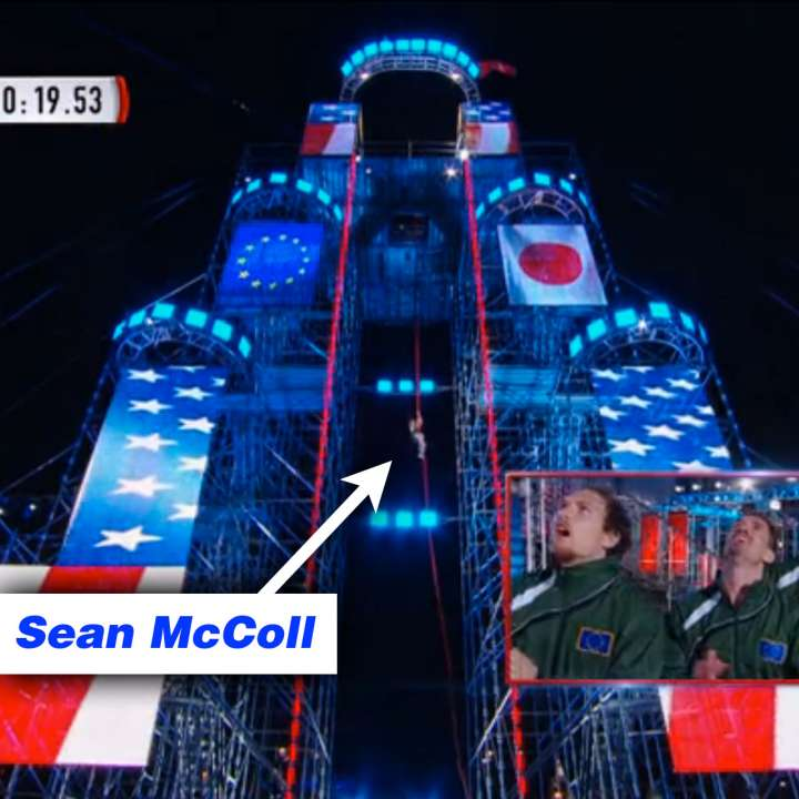 Team Europe wins Ninja Warrior after Sean McColl's epic rope climb