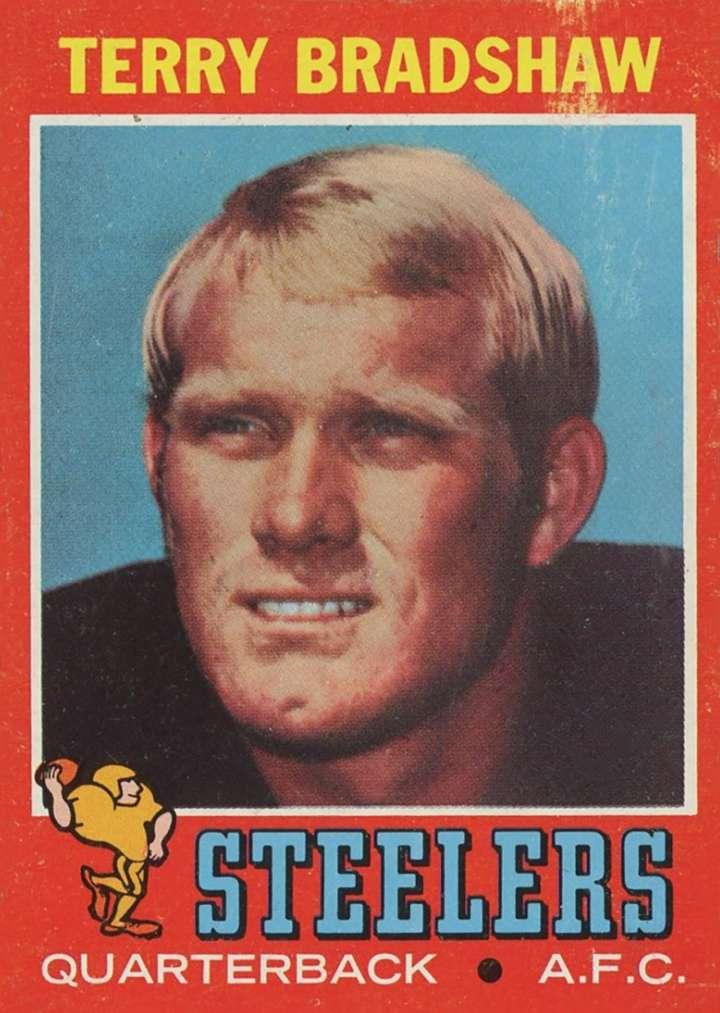 Terry Bradshaw, 1971 Topps rookie football card