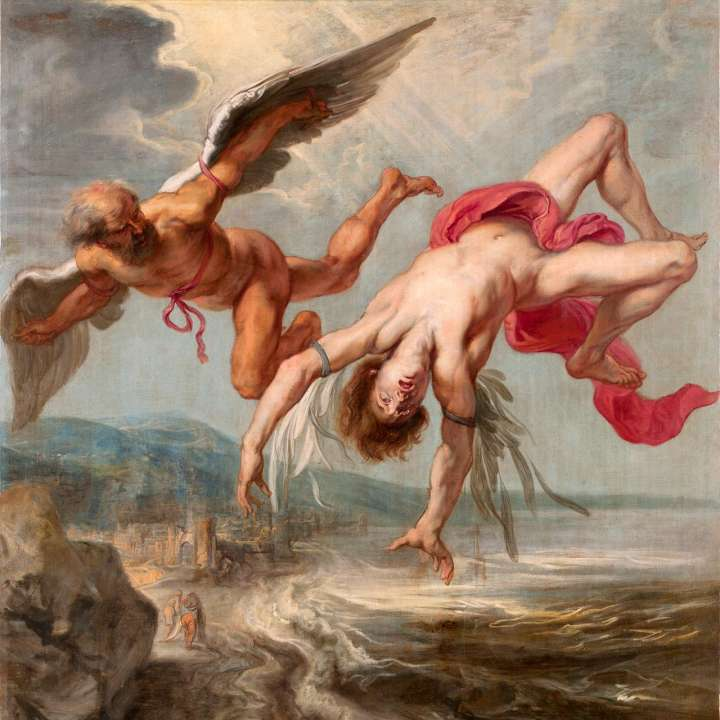 'Tha Fall of Icarus' by Rubens at the Museo Nacional del Prado