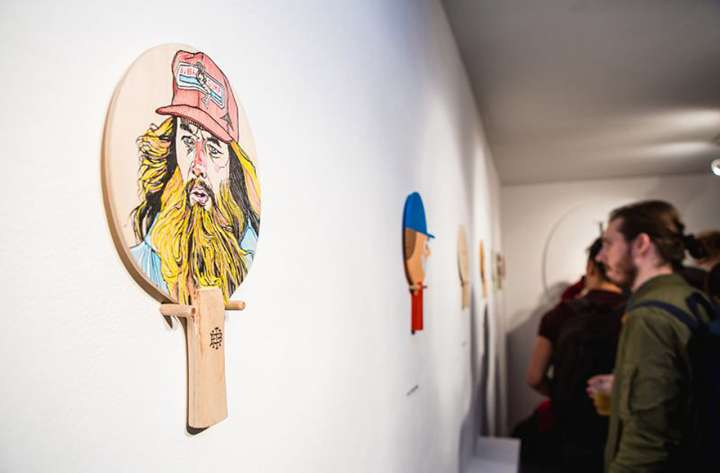 The Art of Ping Pong exhibit attracts a crowd