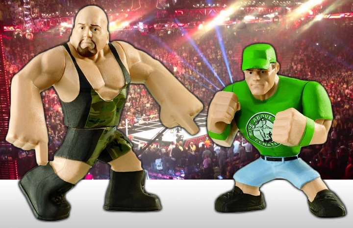 The Big Show and John Cena face off in WWE action