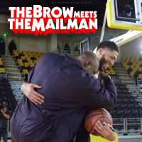 The Brow meets The Mailman: Anthony Davis gets pranked by Karl Malone