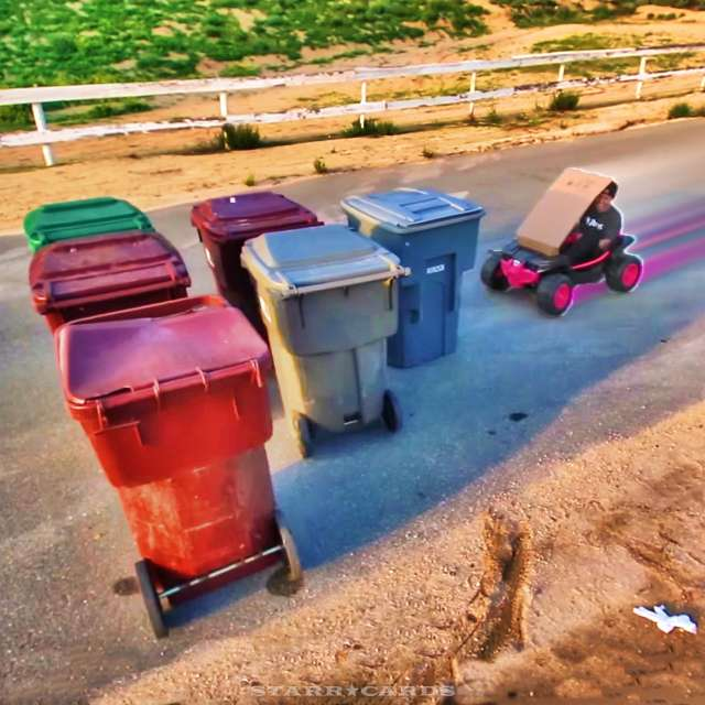 The Funk Bros go human bowling in California foothills with trash cans as pins
