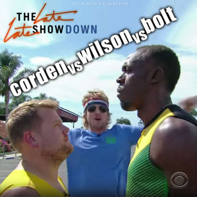 The Late Late Showdown: James Corden vs Owen Wilson vs Usain Bolt