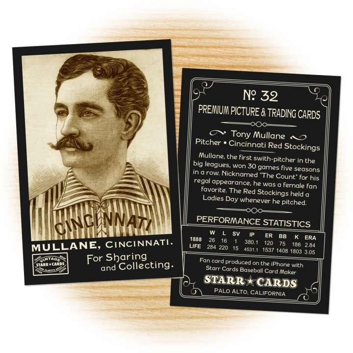 Tony Mullane Cincinnati Red Stockings baseball card