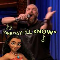 "Triple H lip syncs to ""How Far I'll Go"" from Disney's 'Moana'"