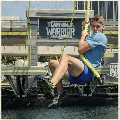 UCLA's Carter Allen races on 'Team Ninja Warrior'