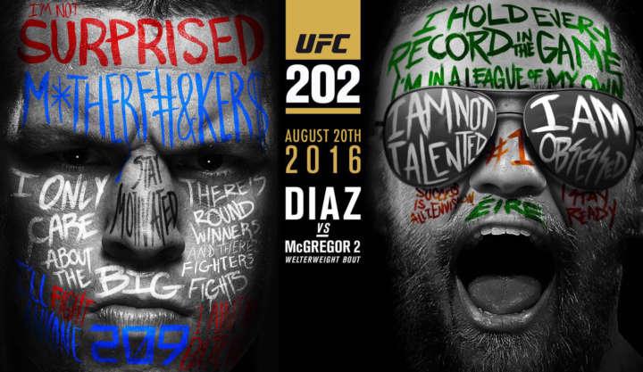 UFC 202 poster: Nate Diaz vs Conor McGregor 2