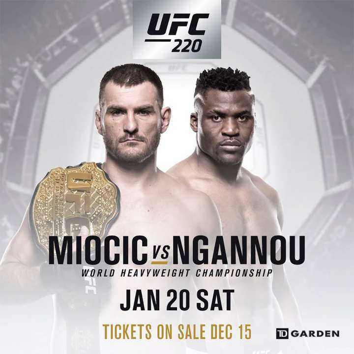 UFC 220 headlined by heavyweight title fight between Stipe Miocic and Francis Ngannou