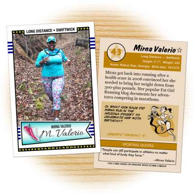 Ultramarathon runner Mirna Valerio