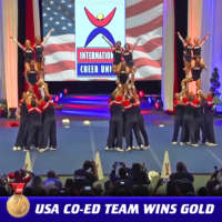 USA Co-ed Team wins gold medal at ICU World Cheerleading Championship
