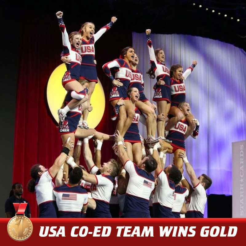 USA wins gold medal in Coed Premiere competition at 2018 ICU World Cheerleading Championship