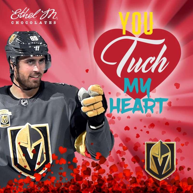 Valentines card from Vegas Golden Knights RW Alex Tuch