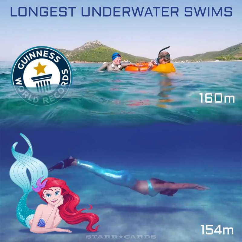 Veronika Kravtcova bests Marina Kazankova for longest underwater swim world record
