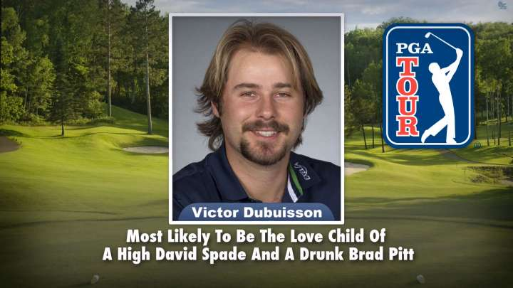 "Victor Dubuisson on ""Tonight Show Superlatives"" read by Jimmy Fallon"