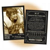 Football card template from Starr Cards Football Card Maker.