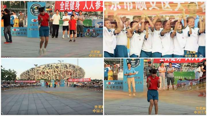 Wang Zhuoxin breaks jump-rope world record by skipping over 110 ropes in Beijing