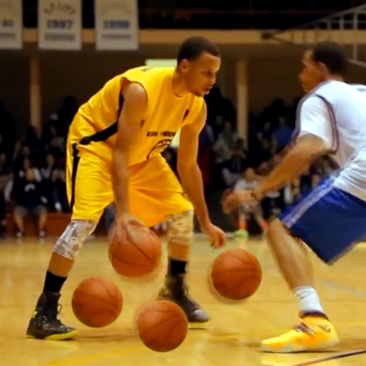 Warriors guard Steph Curry put up 43 points in a San Francisco Bay Area Pro-Am Summer League game.