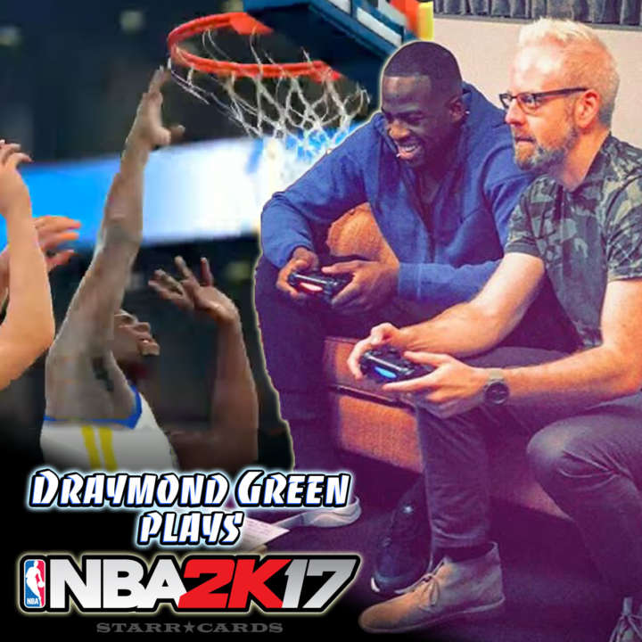 Warriors power forward Draymond Green plays NBA 2K17