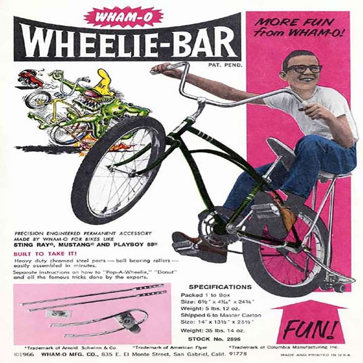 Wham-O Wheelie-Bar advertisement
